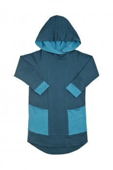 Sweat Hoodiekleid mitwachsend
